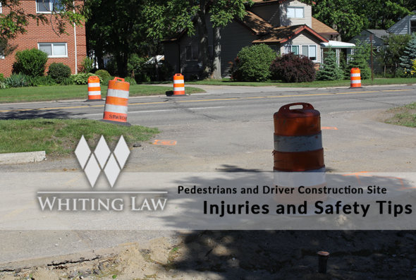 Pedestrians and Driver Construction Site Injuries and Safety Tips