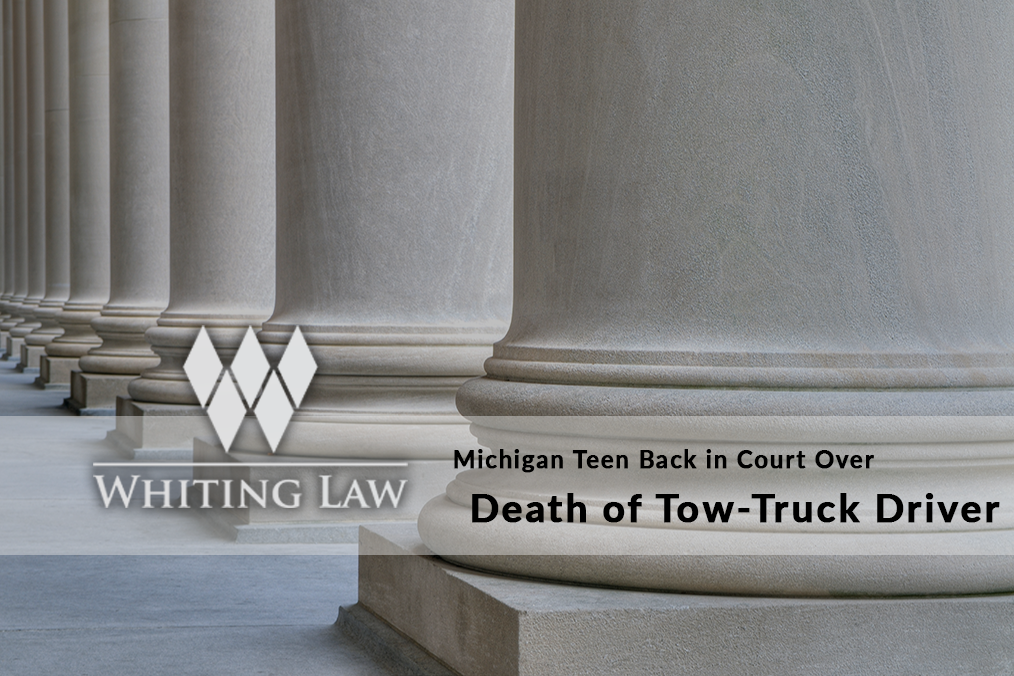 Michigan Teen Back in Court over Death of Tow-Truck Driver