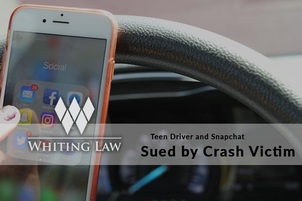 Teen Driver and Snapchat Sued by Crash Victim