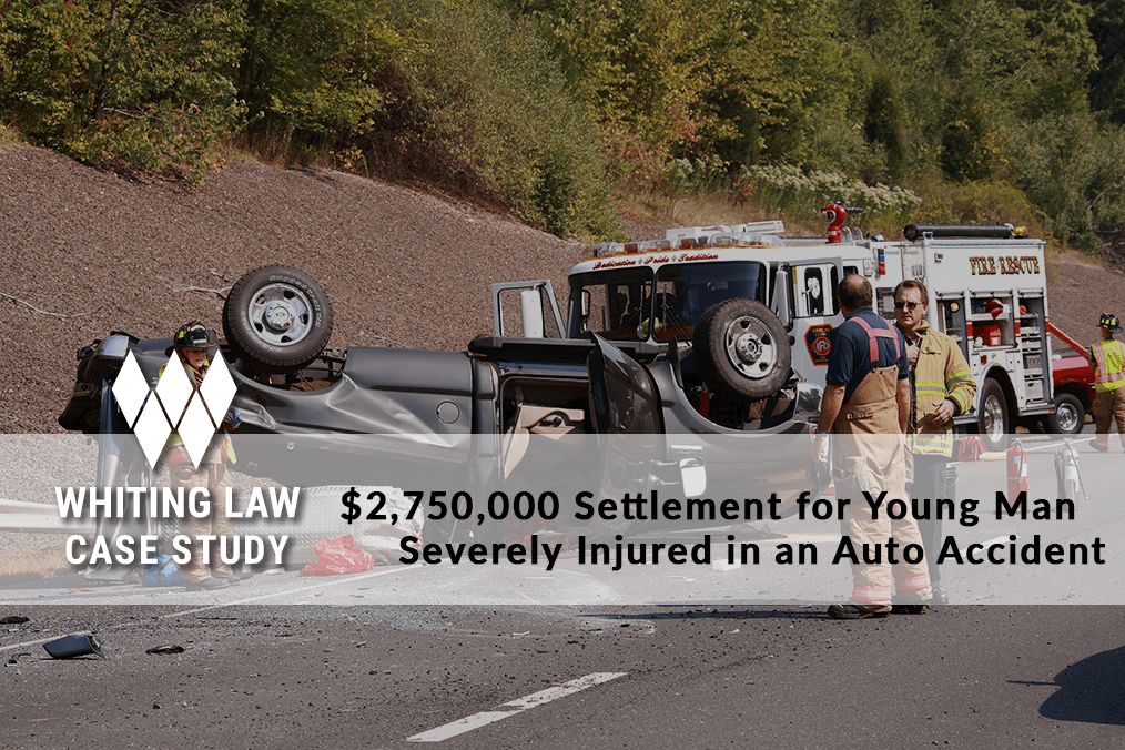 $2,750,000 Settlement for Young Man Severely Injured in an Auto Accident